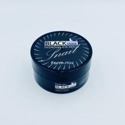 Патчи для глаз с черной улиткой FARMSTAY BLACK SNAIL HYDROGEL EYE PATCH - 60 шт.