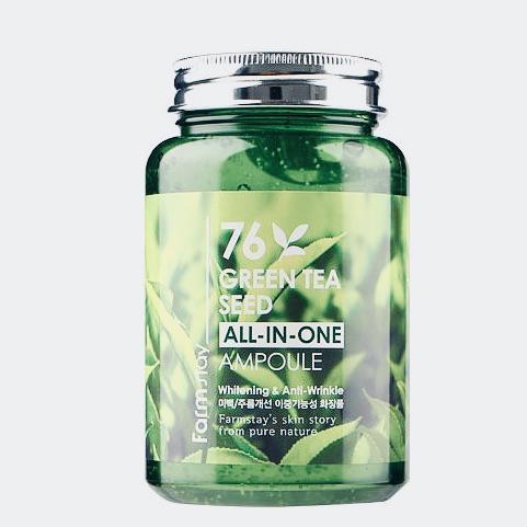 Сыворотка для лица с зеленым чаем FARMSTAY 76 GREEN TEA SEED ALL-IN-ONE AMPOULE - 250 мл