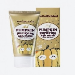 Маска с коллоидным золотом для яркости кожи Too Cool For School Pumpkin Purifying 24k Mask - 100 мл