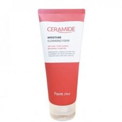 Пінка для вмивання обличчя з керамідами FARMSTAY CERAMIDE MOISTURE CLEANSING FOAM - 180 мл