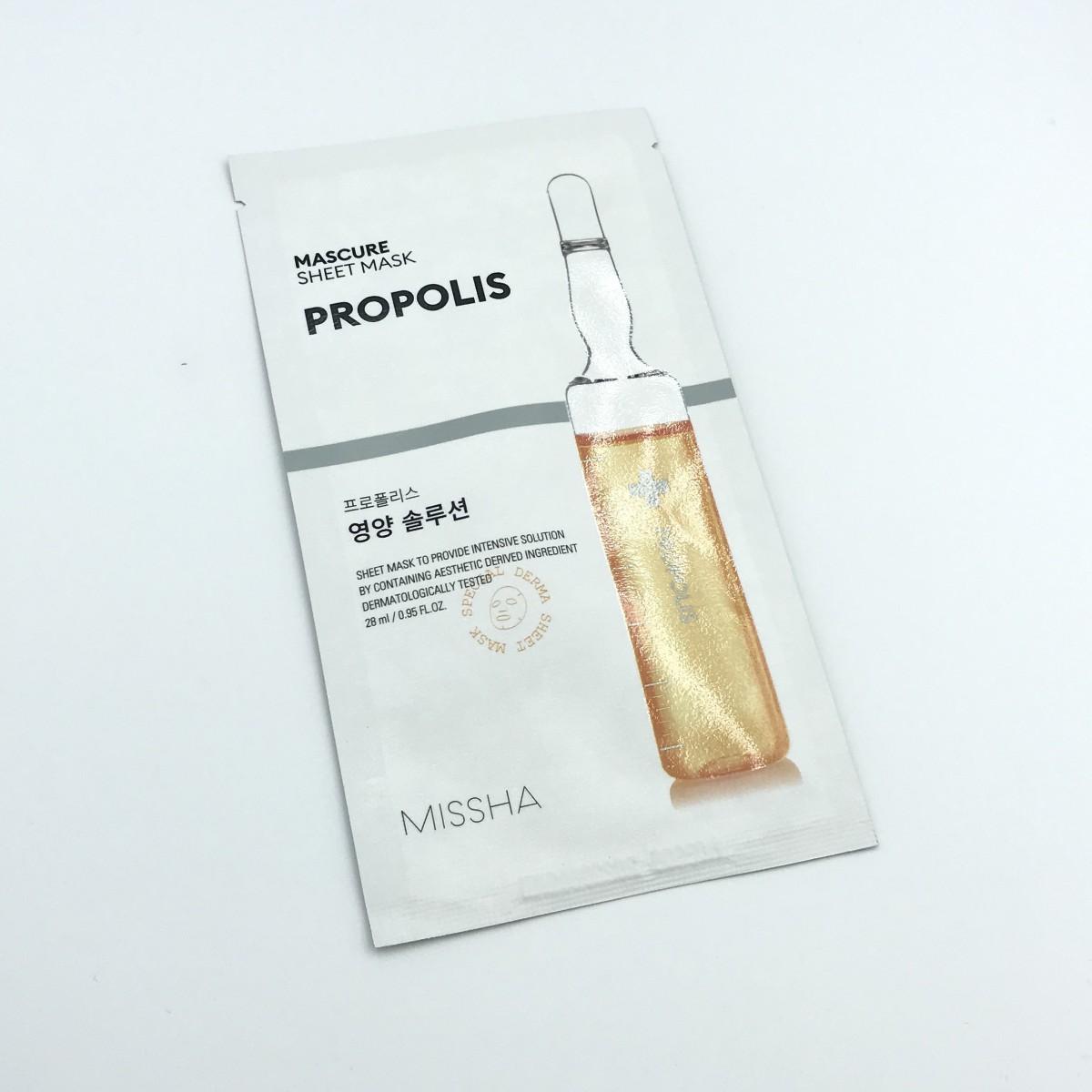 Тканевая маска для лица с прополисом MISSHA MASCURE NUTRITION SOLUTION SHEET MASK PROPOLIS - 27 мл
