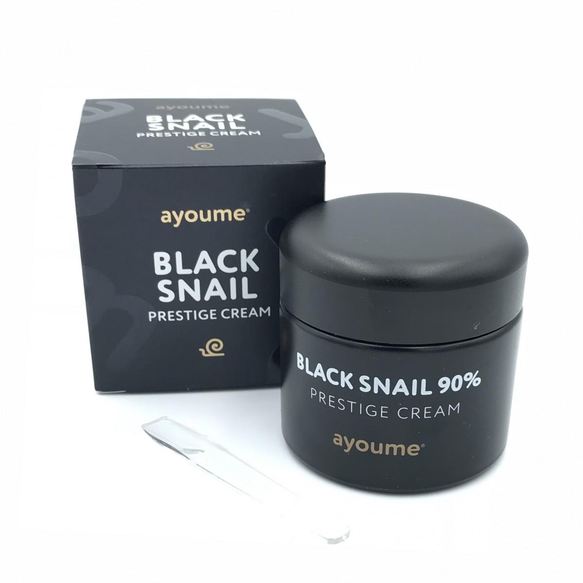 Многофункциональный крем со слизью черной улитки (90%) AYOUME BLACK SNAIL PRESTIGE CREAM - 70 мл