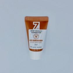 Купить оптом Мини-версия отбеливающей пенки для умывания MAY ISLAND 7 Days Secret Vita Plus-10 Cleansing Foam - 30мл