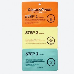 Набор масок против черных точек на носу EUNYUL Clean & Fresh Nose Pack (3 step) - 3 шт.