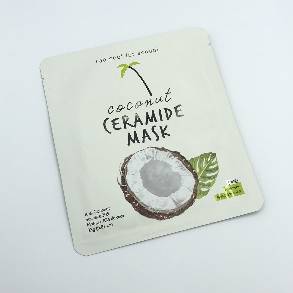 Тканевая маска для лица с керамидами и кокосовой водой TOO COOL FOR SCHOOL COCONUT CERAMIDE MASK - 23 г