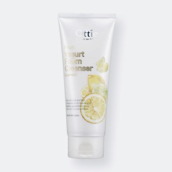 Очищающая пенка для умывания с лимонным йогуртом Fruits Yogurt Foam Cleanser Lemon OTTIE - 150 мл
