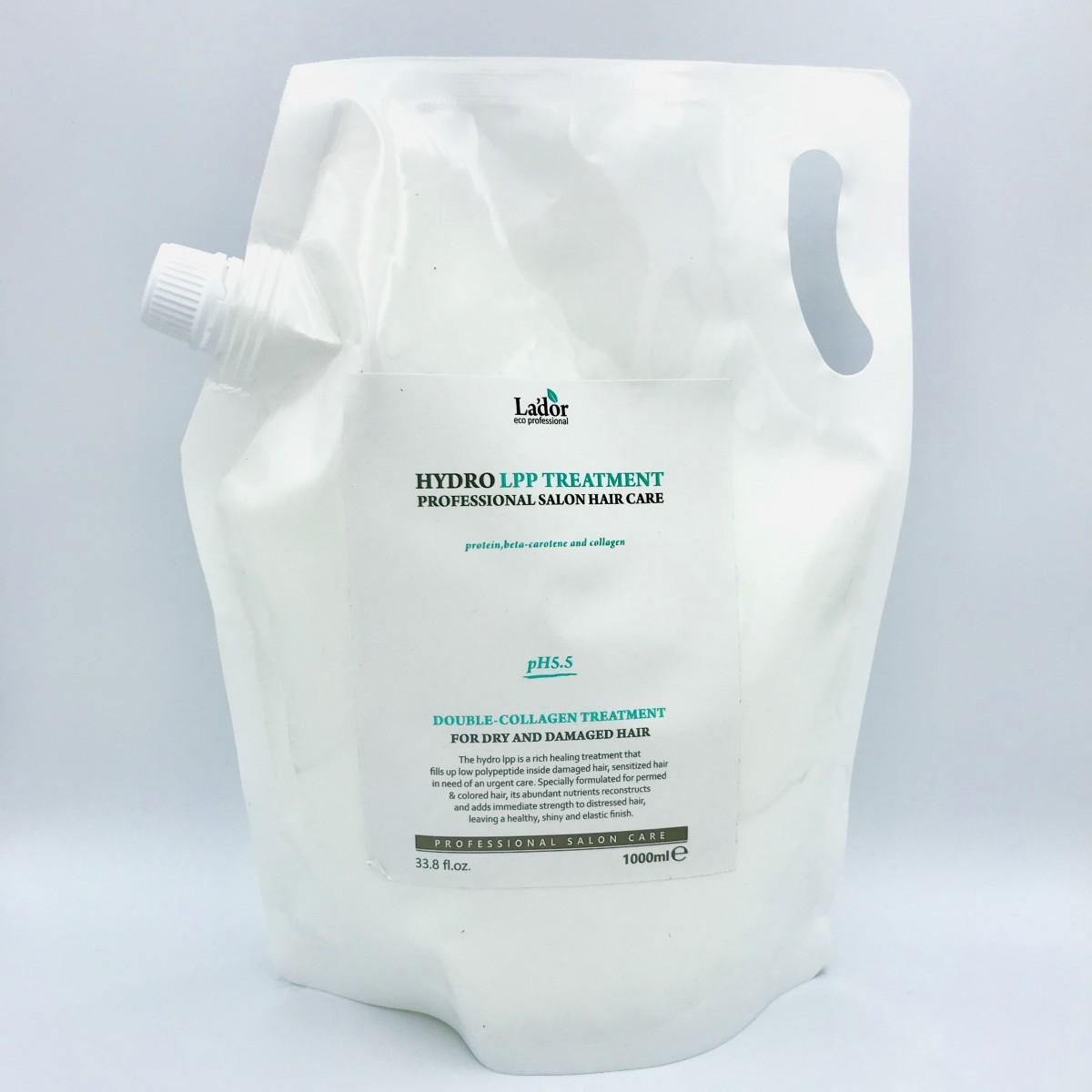 Экстра-восстанавливающая маска для поврежденных волос LADOR Eco hydro LPP treatment - 1000 мл