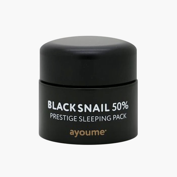 Несмываемая маска для лица с черной улиткой Ayoume Black Snail Prestige Sleeping Pack - 50 мл