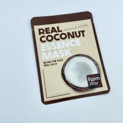 Тканинна маска для обличчя з кокосом FARMSTAY REAL COCONUT ESSENCE MASK - 23 мл