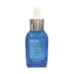 Концентрована сироватка для обличчя з гиалуроном FARMSTAY DR-V8 AMPOULE SOLUTION HYALURONIC ACID - 30 мл