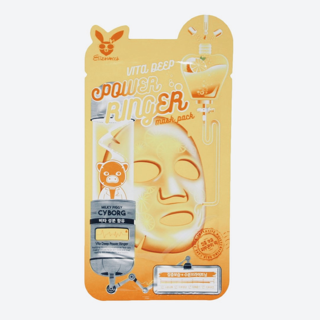 Питательная маска для лица ELIZAVECCA VITA DEEP POWER RINGER MASK PACK - 1 шт.