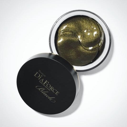 Большие гидрогелевые патчи с золотом и черным жемчугом Rearar DiaForce Hydro-Gel Eye patch L Black - 60 шт.