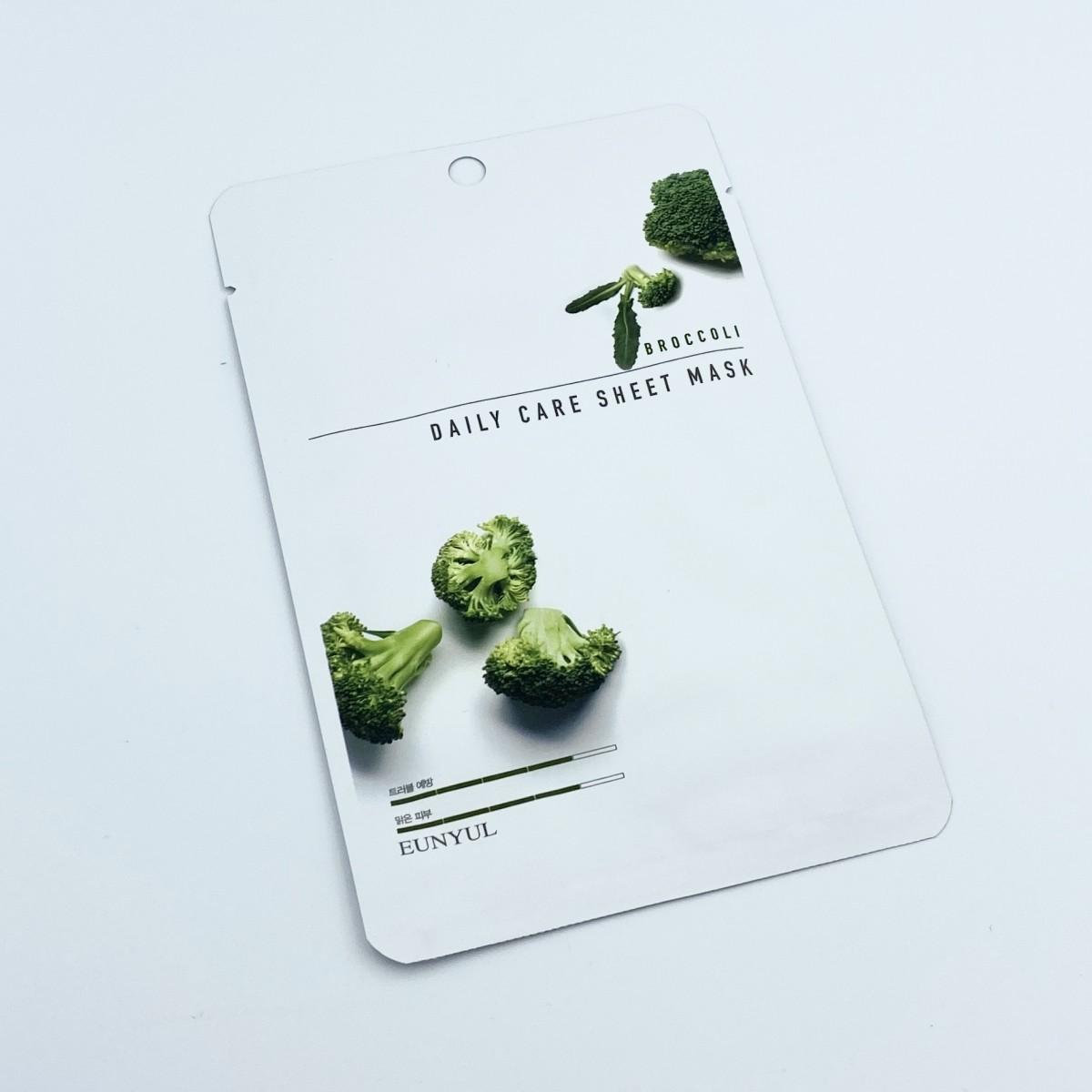 Тканевая маска с брокколи Eunyul Daily Care Mask Sheet Broccoli - 22 г