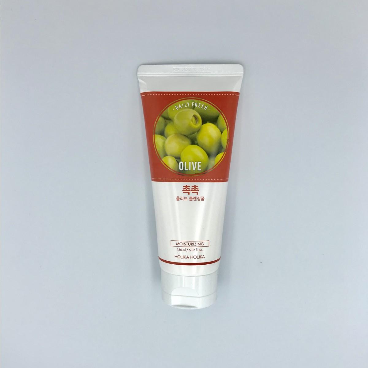 Очищающая пенка для лица с оливой Holika Holika Daily Fresh Cleansing Olive Cleansing Foam - 150 мл