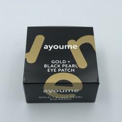 Купить оптом Патчи для глаз с золотом и черным жемчугом