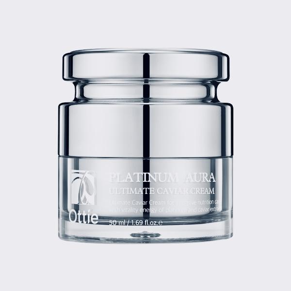 Антивозрастной крем с платиной Ottie Platinum Aura Ultimate Caviar Cream - 50 мл