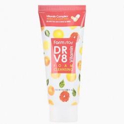 Пенка для умывания с витаминами FARMSTAY DR-V8 VITAMIN FOAM CLEANSING - 100 мл