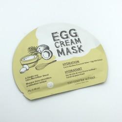 Тканинна маска з яєчним жовтком зволожуюча TOO COOL FOR SCHOOL EGG CREAM MASK HYDRATION - 28 г