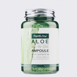 Успокаивающая сыворотка для лица с алоэ FARMSTAY ALOE ALL-IN ONE AMPOULE - 250 мл