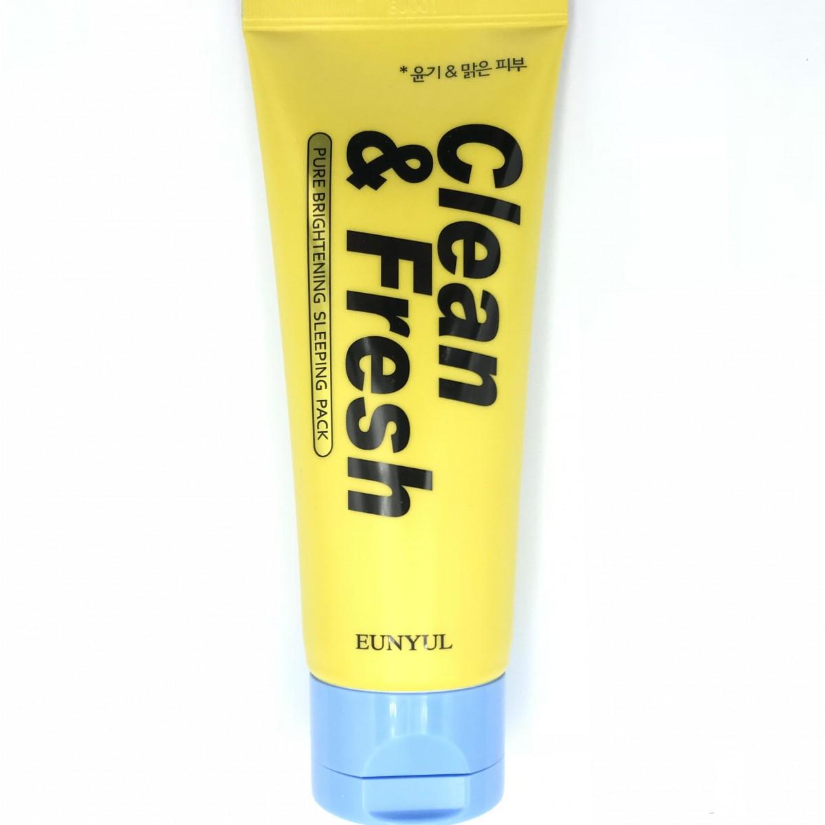 Ночная маска для сияющей кожи EUNYUL Clean & Fresh Pure Brightening Sleeping Pack - 120 мл
