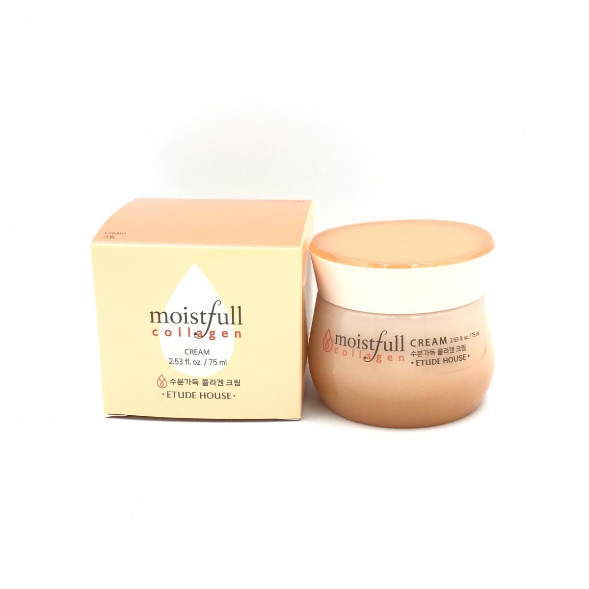 Омолаживающий крем для лица с коллагеном Etude House Moistfull Collagen Cream - 75 мл