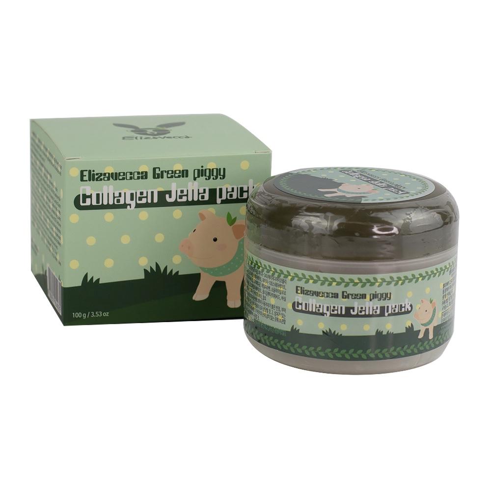 Маска для лица с коллагеном ELIZAVECCA Green Piggy Collagen Jella Pack - 100 мл