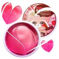 Патчі для очей з рожевою водою і золотом Secret Key Pink Racoony Hydro Gel Eye & Cheek Patch 60 шт.