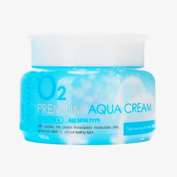 Кислородный крем для лица с пептидами FARMSTAY O2 PREMIUM AQUA CREAM - 100 мл