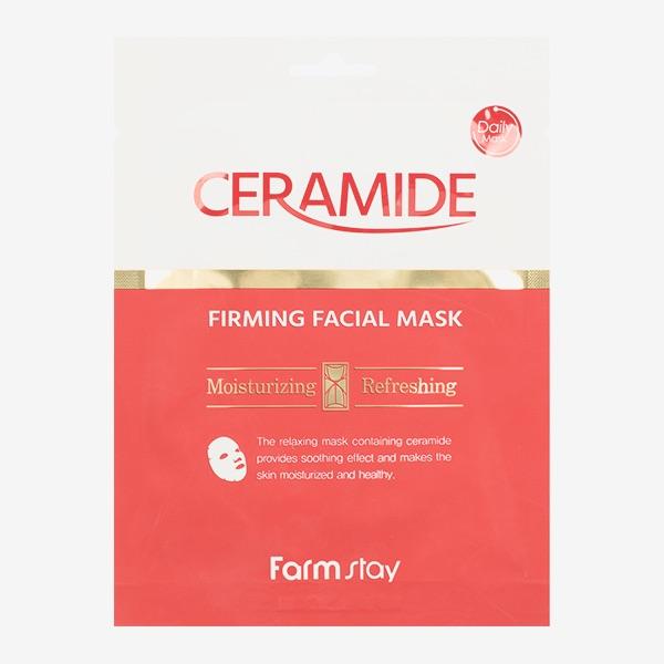 Тканевая маска для лица с керамидами FARMSTAY CERAMIDE FIRMING FACIAL MASK - 27 мл