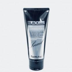 Пенка для умывания с черной улиткой FARMSTAY BLACK DEEP SNAIL CLEANSING FOAM - 180 мл