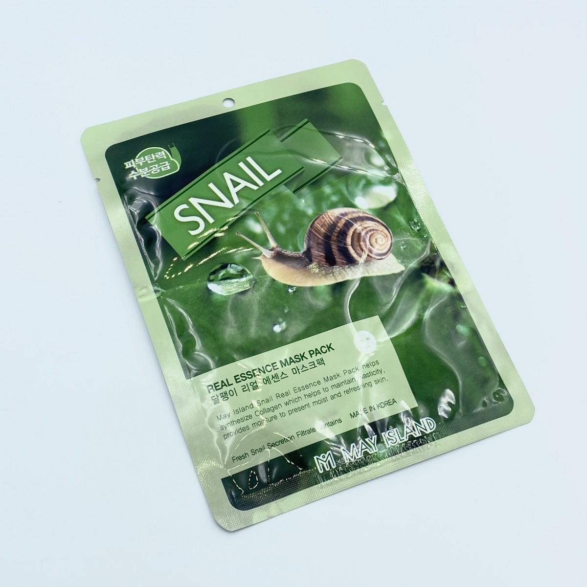 Тканевая маска с улиткой May Island Real Essence Snail Mask Pack - 25 г