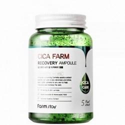 Сироватка для обличчя з центеллою азіатською FARMSTAY CICA FARM RECOVERY AMPOULE - 250 мл