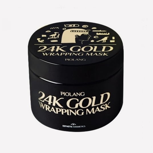 Маска-пленка антивозрастная с коллоидным золотом CP‐1 PIOLANG 24K GOLD WRAPPING MASK - 80 мл