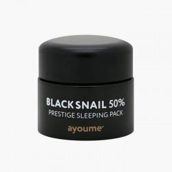 Придбати оптом  Незмивна маска для обличчя з чорним равликом Ayoume Black Snail Prestige Sleeping Pack - 50 мл
