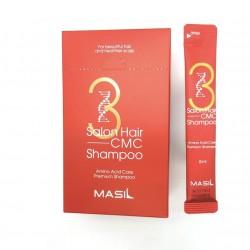 Набор мини-версий укрепляющего шампуня с аминокислотами Masil 3 Salon Hair CMC Shampoo - 20 шт.×8 мл