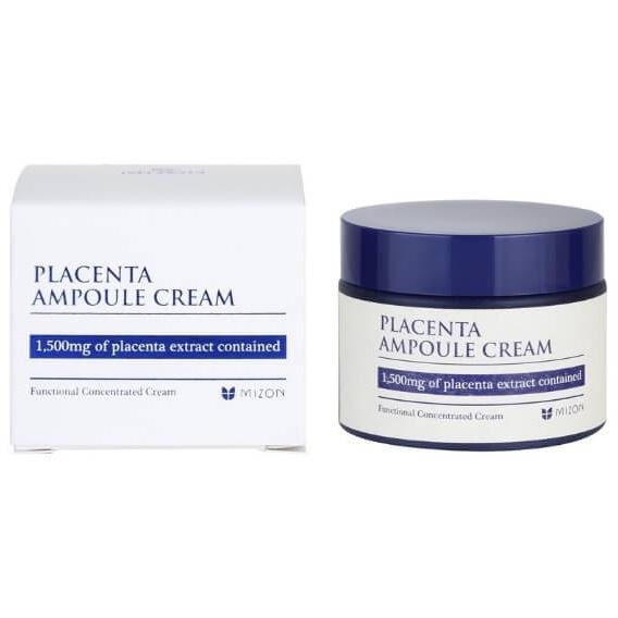 Восстанавливающий крем на основе плацентарного белка Mizon Placenta Ampoule Cream - 50 мл