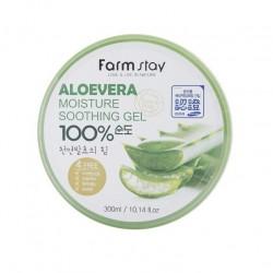Універсальний гель для чутливої шкіри з алое FARMSTAY MOISTURE SOOTHING GEL ALOE VERA - 300 мл