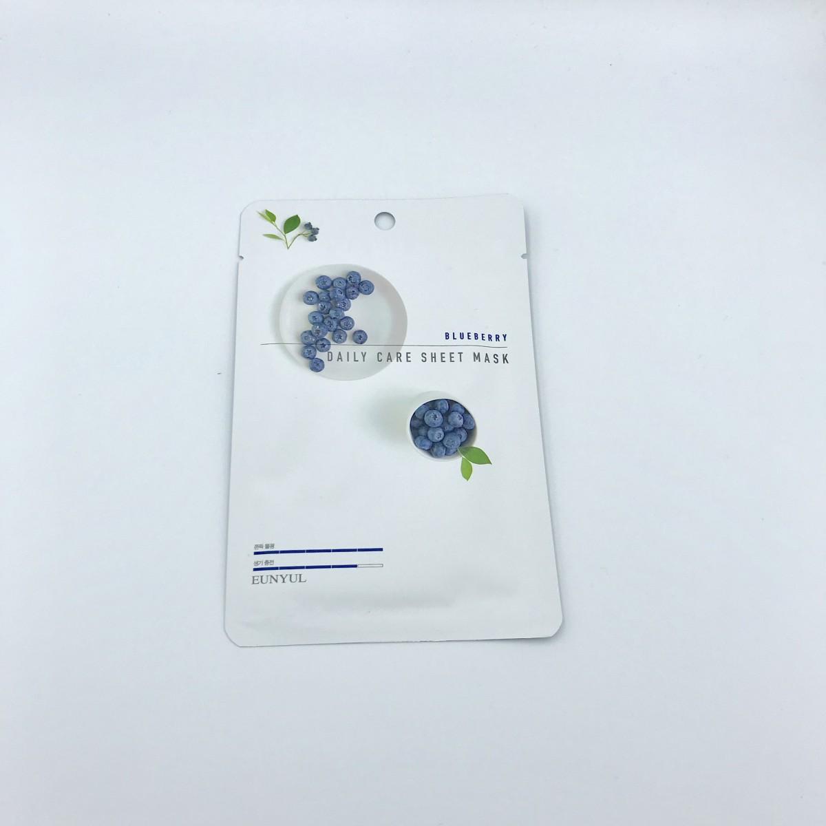 Тканевая маска с черникой Eunyul Daily Care Mask Sheet Blueberry - 22 г