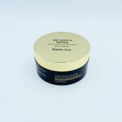 Купить оптом Патчи для глаз с золотом и пептидами FARMSTAY 24K GOLD & PEPTIDE SOLUTION AMPOULE EYE PATCH - 60 шт.