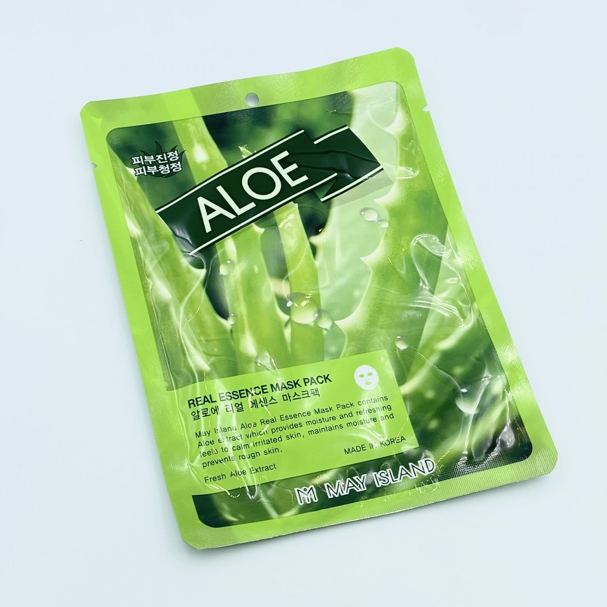 Тканевая маска с алоэ May Island Real Essence Aloe Mask Pack - 25 г