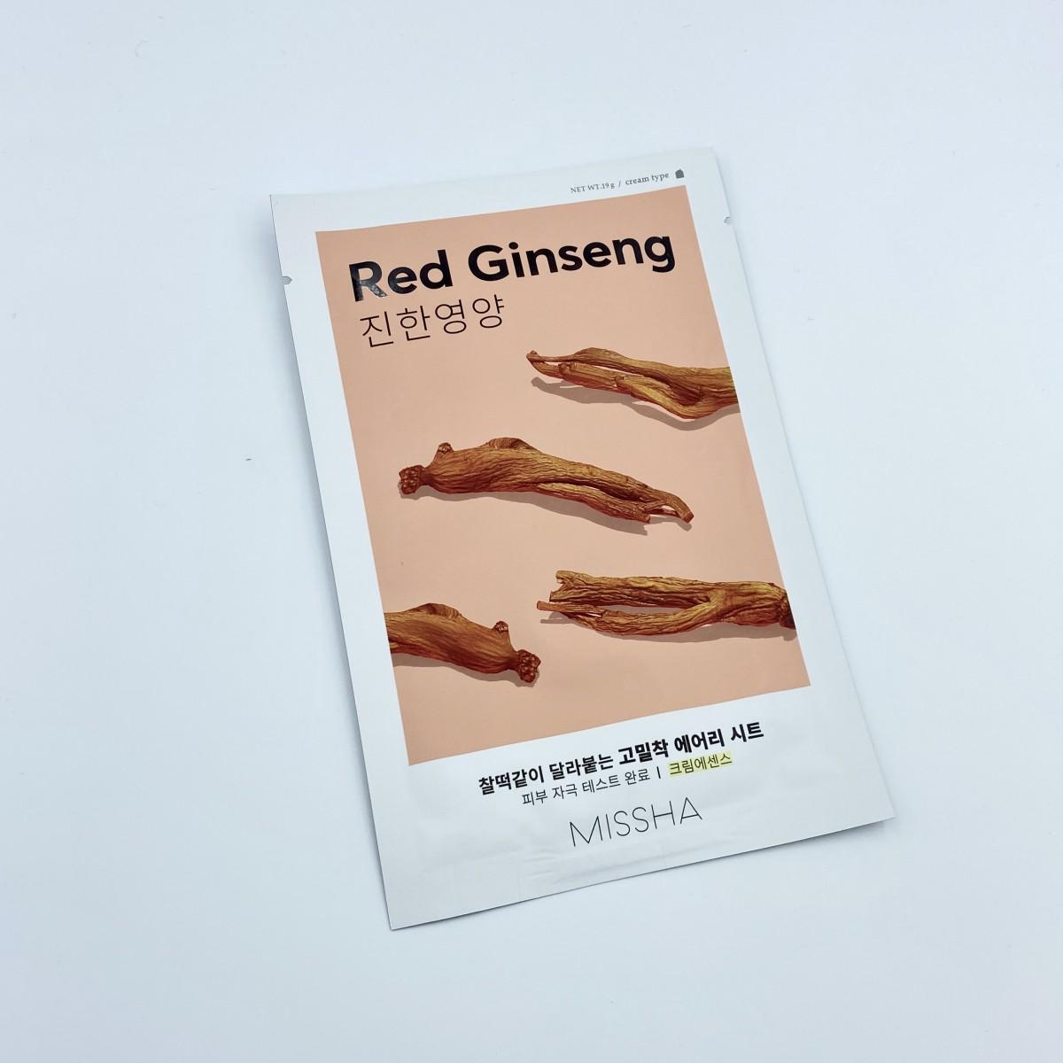 Тканевая маска с красным женьшенем MISSHA Airy Fit Sheet Mask Red Ginseng - 19 г