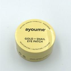 Придбати оптом Патчі для очей з золотом і равликом Ayoume GOLD + SNAIL EYE PATCH - 60 шт.