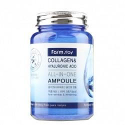 Зволожуюча сироватка з колагеном FARMSTAY COLLAGEN & HYALURONIC ACID ALL-IN ONE AMPOULE - 250 мл