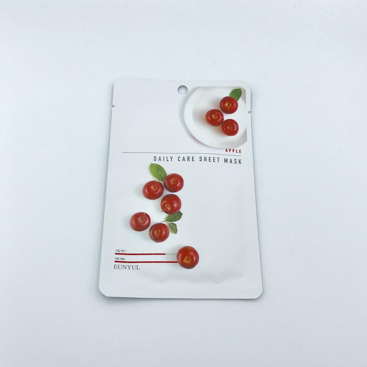 Тканевая маска с яблочным экстрактом Eunyul Daily Care Mask Sheet Apple - 22 г