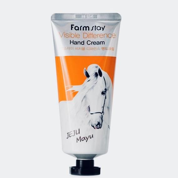 Крем для рук с лошадиным маслом FARMSTAY VISIBLE DIFFERENCE HAND CREAM HORSE OIL - 100 мл