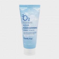 Кислородная очищающая пенка для лица FARMSTAY O2 PREMIUM AQUA FOAM CLEANSING - 100 мл