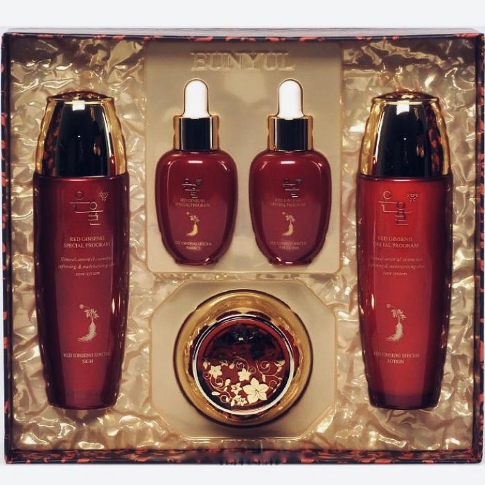 Набор из 5 средств по уходу за лицом с красным женьшенем Eunyul Red Ginseng Special 5 Set