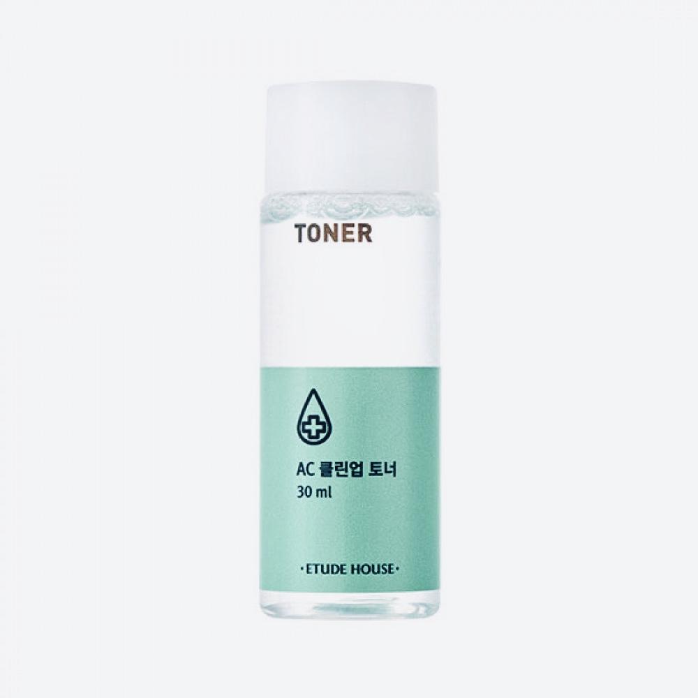 Мини-версия тонера против прыщей и акне Etude House Ac Clean up Toner - 30 мл